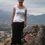 Shelly on Mt Phousi