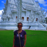 Outside Wat Run Khun - The White Temple