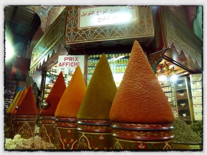 The spice markets in Marrakesh