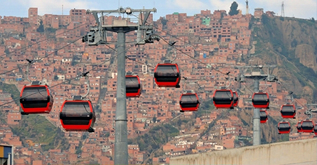 La Paz airport cable car