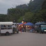 Setting up the night market