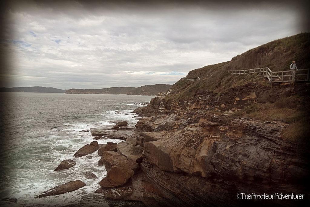 Boardwalks along the cliff